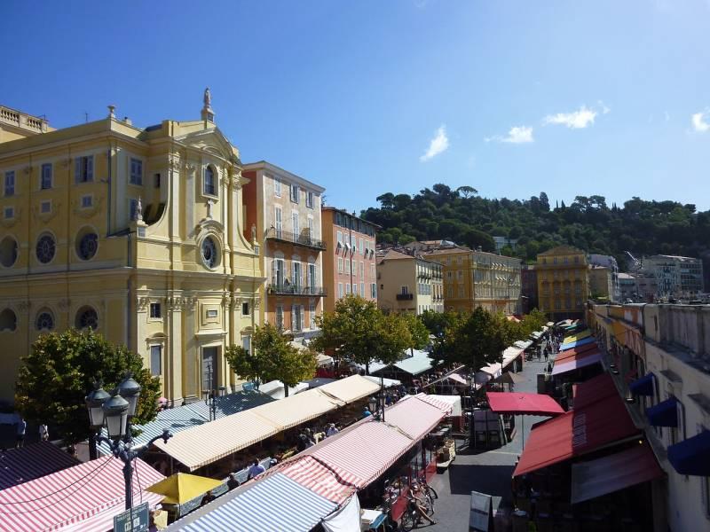 Cours Saleya, นีซ, ฝรั่งเศส